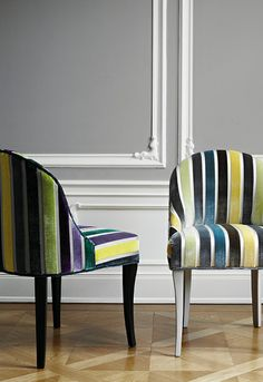 chairs upholstered in Sahco fabric from Trendition Collection