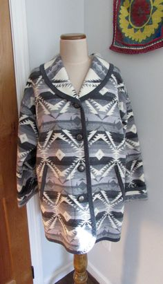 Vintage PENDLETON Sweater Coat Knockabouts by magpiesfancyshop