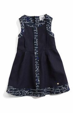 Armani Junior Sleeveless Logo Trim Dress (Toddler Girls) available at #Nordstrom