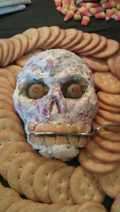 Skull Cheeseball   The Ultimate Collection Of Creepy, Gross And Ghoulish Halloween Recipes