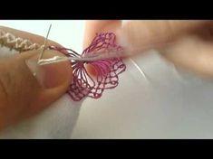 Needle Lace Tutorial, İĞNE OYASI #KELOĞLAN MODELİ# - YouTube