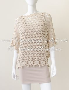 New crochet patern in work - off shoulder seamless top.
