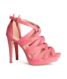 Shop online for irrresistable women's shoes at H&M. Choose from stylish sandals, boots, sneakers, heels, pumps and more at affordable prices. Pink Strappy Heels, H&m Heels, Strappy Sandals, Women's Shoes Sandals, Fab Shoes, Pink Shoes, Pumps, Old Brown Shoe, Colorful Heels