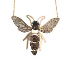 Brass Wasp Pendant Necklace, by Les Nereides. Available at ahalife.com