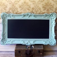 Make a chalkboard out of an old mirror or a cool thrift-store picture frame!