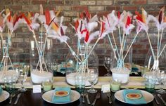 cool arrow templates and banner for thanksgiving table setting