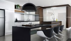 kitchen island with table attachment