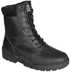 Nuova offerta in #scarpe : Stivali neri in vera pelle da combattimento militare tattici per cadetti pattuglie sicurezza militare e polizia a soli 36.54 EUR. Affrettati! hai tempo solo fino a 2016-09-12 23:34:00