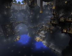 minecraft building ideas Would an underground city be possible? - Minecraft: Xbox 360 Edition Message Board for Xbox 360 - GameFAQs Minecraft Plans, Minecraft Medieval, Minecraft Art, Minecraft Blueprints, Minecraft Designs, Minecraft Creations, How To Play Minecraft, Minecraft Cave House, Minecraft Stuff