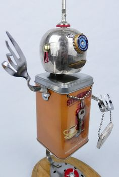 Hey, I found this really awesome Etsy listing at https://www.etsy.com/listing/121406540/robot-assemblagesculpture-ll61-found