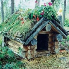 Just like us, your dog also needs to have a comfortable occupancy to make it really worthy. It is because a proper dog house will give a good impact for your dog life Farmhouse Dog Houses, Rustic Dog Houses, Cool Dog Houses, Cat Houses, Dog House Inside, Small Dog House, Pallet Dog House, Wooden Dog House, House 2