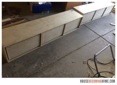 DIY twin bed with drawers. Diagram, photos, materials list and instructions for putting together the DIY twin bed. Twin Bed With Drawers, Building Drawers, Wood Projects, Woodworking Projects, Kids Storage, Storage Drawers, Twins, Kids Room, Outdoor Decor