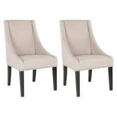 Safavieh Brittania Swoop Dining Chair - Set of 2