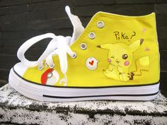 Hey, I found this really awesome Etsy listing at https://www.etsy.com/listing/185111810/pikachu-custom-made-converse-style-shoes