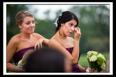 Emotional bridesmaids :) Amber and Colby's Wedding ~ Twin Hills Country Club, East Longmeadow MA