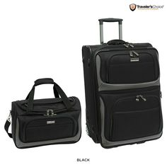 2-Piece Set: Traveler's Choice Lightweight Carry-On Luggage - Black or Red When you travel, everyone wants to transport their essentials smoothly and in style, which is why this 2-Piece Traveler's Choice Lightweight Carry-On Luggage Set is the perfect traveling companion for you. Lightweight and durable, they're constructed from durable materials that will protecting your belongings. Since you'll end up buying presents while you're on vacation, the vertical pullman expands for added packing…