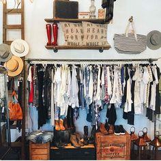 Vintage clothing rack.