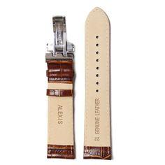 22 millimetri di alta qualità Brown Tutti vera pelle unisex del cinturino Cinghie WB1037A22GB