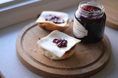 Cheese, jam and sourdough