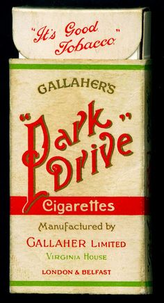 My mum used to send me to the corner shop for Park Drive or Woodbine cigarettes. A pastime for me and a leisure activity for her. Vintage Cigarette Ads, Cigarette Brands, Vintage Ads, Vintage Posters, Old Advertisements, Retro Advertising, Vintage Packaging, Old Ads, My Childhood Memories