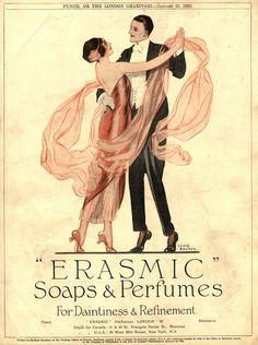 Erasmic Soaps and Perfumes 1920s advertisement