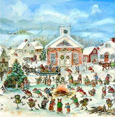 Illustration...Corgiville Christmas