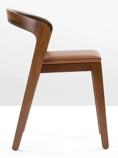contemporary leather chair PLAY by Alain Berteau WILDSPIRIT, stackable