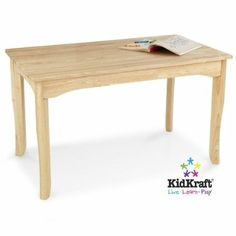 Amazon.com : KidKraft Long Oslo Table Natural : Childrens Furniture : Home & Kitchen