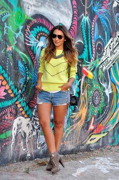Blogs de Moda - Lala Noleto: Look do Dia – Tricô Neon - moda it