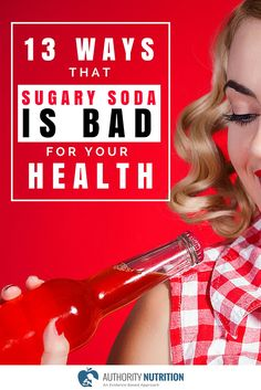 Sugar-sweetened beverages are the most fattening and most harmful aspect of the diet. Here are 13 reasons why sugary soda is bad for your health: https://authoritynutrition.com/13-ways-sugary-soda-is-bad-for-you/