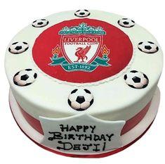 Liverpool football club cake | Caker Street Fondant Icing Cakes, Cupcake Cakes, Sport Cakes, Soccer Cakes, Football Cakes, Liverpool Cake, Icing Cake Design, Camisa Liverpool, Football Birthday Cake