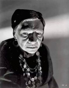 Maria Ouspenskaya, fondly remembered as Maleva, the Gypsy palm reader from The Wolf Man, 194