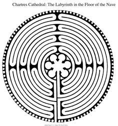 Chartres Labyrinth - es gibt nur einen Weg rein und einen Weg raus. Und der Weg ist lang