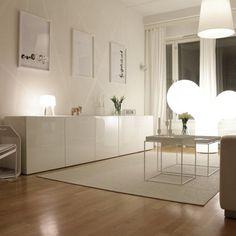 Ways to use Ikea Besta units in . - Ways to Ikea Besta units in to use – - Home Living Room, Living Room Decor, Living Spaces, Living Room White, Apartment Living, Dining Room, Ideas Decoracion Salon, Modern Interior, Interior Design