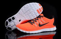 Herren Nike Free Run 5.0 Schuhe Orange Schwarz | Herren Nike