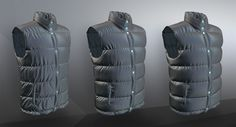 Virtual 3D garment, Puffy jacket - different fills for same 2D CAD patterns - click for sneak peak of VS 6.5>>