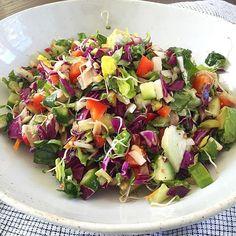 Saturday chopped salad: romaine, red cabbage, Tonnino tuna, radish ...