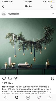 Before Christmas, Xmas, Christmas Branches, Presents, Chandelier, Ceiling Lights, Design, Home Decor, Christmas