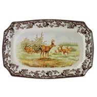 Spode Woodland N. American Wildlife Mule Deer Rect. Platter