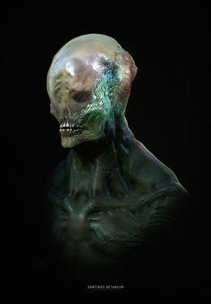 ArtStation - Creature Bust - 02, Santiago Betancur