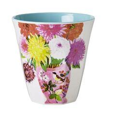 Rice - Krus, blomstervase / kopper, Blå innside