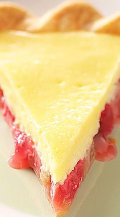 Rhubarb Cheese Pie