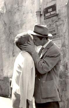 Jean-Paul Belmondo & Jean Seberg. (Al final de la escapada, 1960)