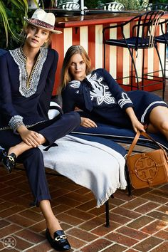 Blue and White Monday || Tory Burch Resort || Rugs