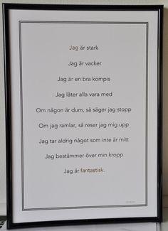 Affisch med affirmationer som stärker dig och ditt barn
