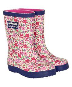 Loving this JoJo Maman Bébé Pink Floral Rain Boot on #zulily! #zulilyfinds