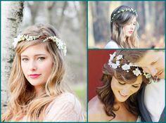 Acessórios de cabelo para noivas românticas