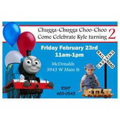 Awesome FREE Template Thomas The Tank Engine Birthday Invitations