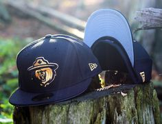 adbf9bbe606 Northern Force - NewEra Fitted. Black w  Grey Undervisor. Gold embroidered  logo of