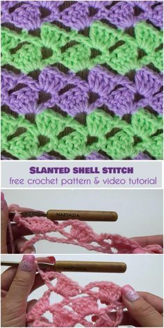 Slanted Shell Stitch [Free Crochet Pattern and Video Tutorial]